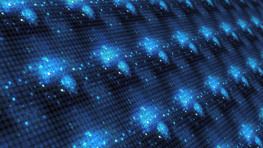 Blue Neon Light Numbers 10 to 0 Count down Flicker matrix pattern on digital led wall display background. 4K 3D rendering seamless loop ten seconds countdown for festive event countdowns and top ten. | Shutterstock HD Video #1066248334