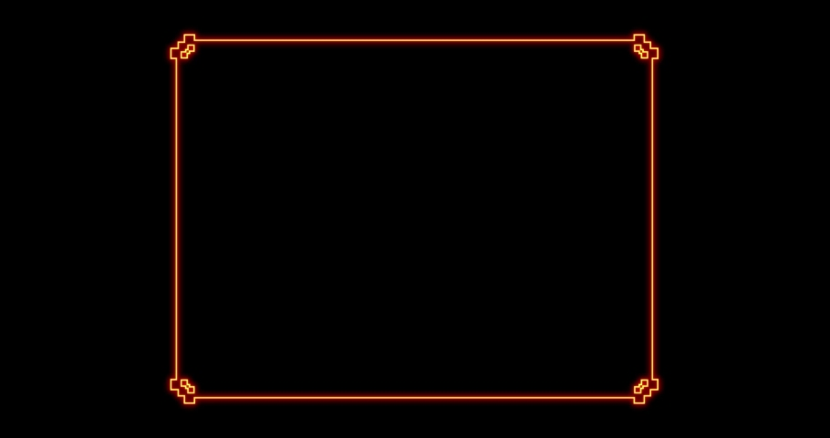 Glowing golden rectangular frame with alpha channel. 4K. Pear line 4K, 2K-2.5K, HD, SD video. For website, banner, motion graphics, apps, and social media posts.  | Shutterstock HD Video #1066262092