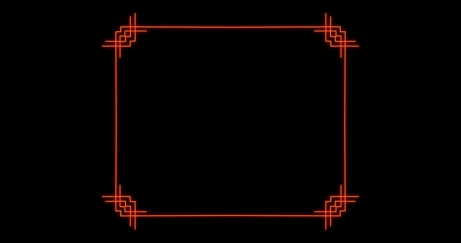 Glowing golden rectangular frame with alpha channel. 4K. Pear line 4K, 2K-2.5K, HD, SD video. For website, banner, motion graphics, apps, and social media posts.  | Shutterstock HD Video #1066262122