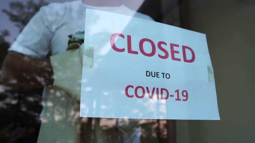 Businesses are collapsing, stores are tagged to close stores due to the Covid-19 virus | Shutterstock HD Video #1066605595