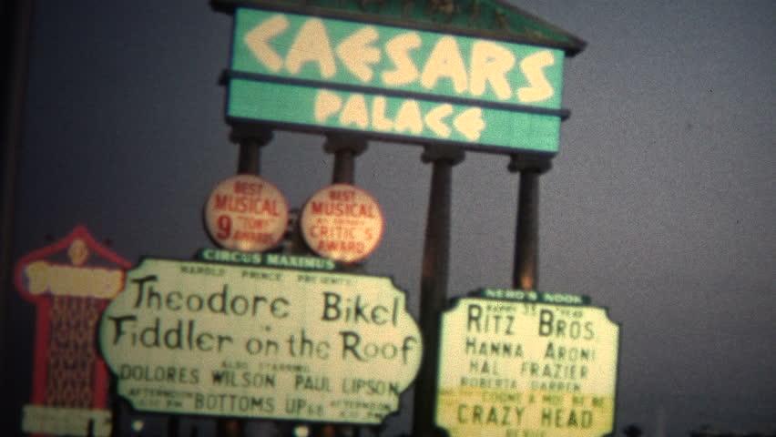 LAS VEGAS, USA - JUNE 1966: Caesars Hotel Casino was a new hotel on the Las Vegas Strip.