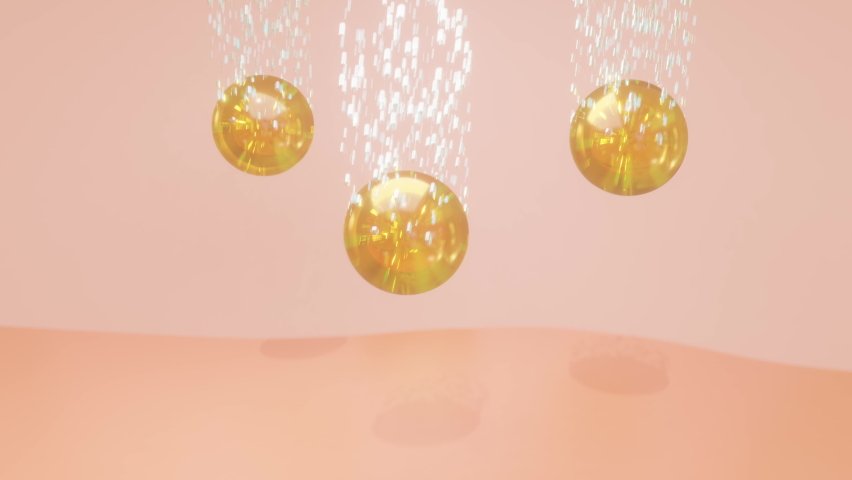 Animation three bubbles serum and vitamin through the skin layer for repair wrinkles, concept skin care cosmetics solution. | Shutterstock HD Video #1066680985