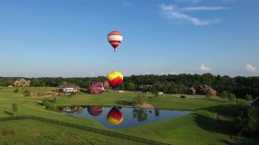 Hot Air Ballooing in Louisville Kentucky Drone Video