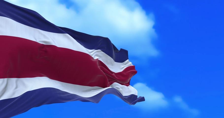 Seamless loop of Costa Rican flag. | Shutterstock HD Video #1066736185