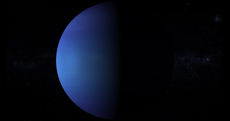 Realistic Neptune planet spinning and zooming in space, among the stars, 4k loop   Shutterstock HD Video #1066840732