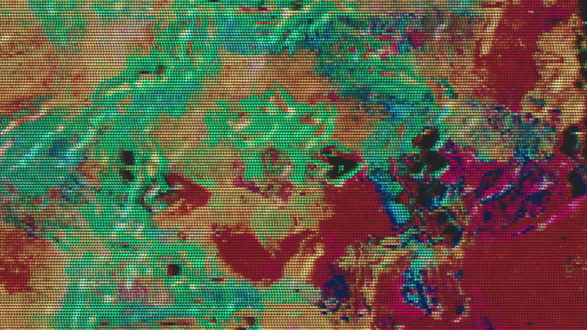 Digital generated glitched footage, iridescent data collapse effect. Retro futurism background. | Shutterstock HD Video #1067107270