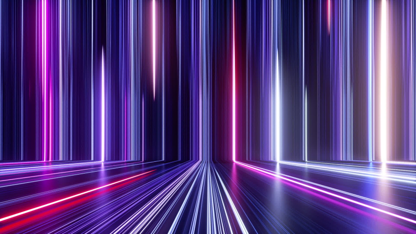abstract colorful background with bright neon rays and glowing lines. Pink red blue looping background. Speed of light. Seamless loop animation Royalty-Free Stock Footage #1067113702