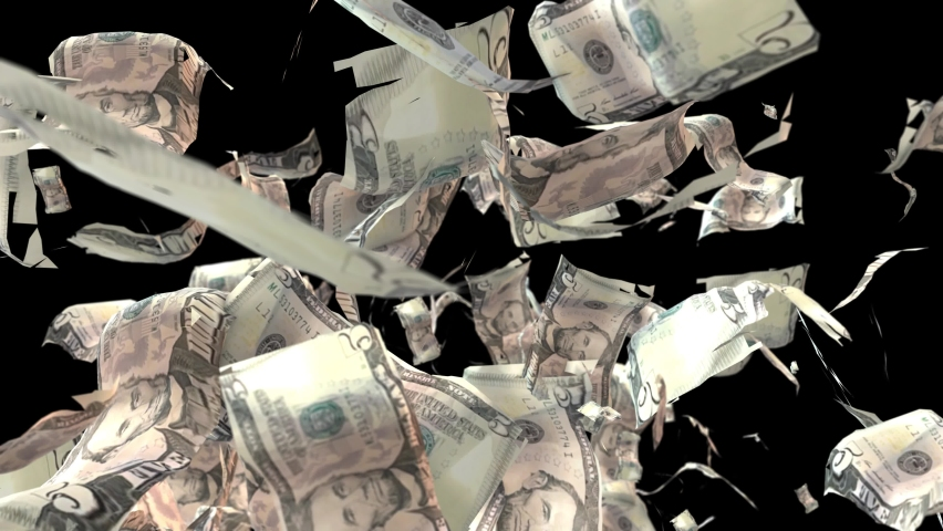 3d render of a realistic isolated dollar on alpha chanel. 3D render | Shutterstock HD Video #1067207950