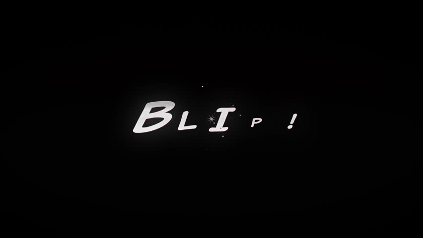 BLIP!4K Animated comic style action word with tiny particles and cartoony explotion. Black and Red look. | Shutterstock HD Video #10672196