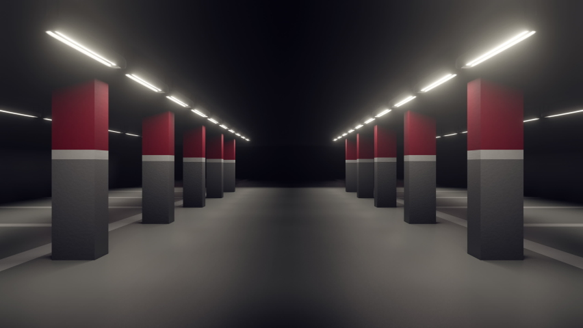 3d rendering background graphic of parking lot. parking space background. empty wall of parking area.car park. Royalty-Free Stock Footage #1067430395