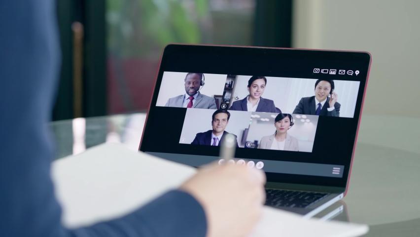 Video conference concept. Web meeting.  Telemeeting. Webinar. | Shutterstock HD Video #1067434856