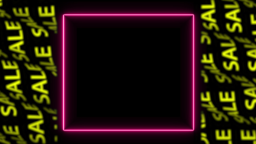 Video animation of glowing magenta neon lines. neon sale, animated colorful lights, sale neon. Vertical copy space sale banner. Template for social network. Great for social media post. 4k animation. Royalty-Free Stock Footage #1067483624