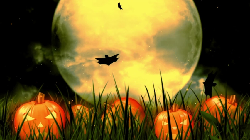 Video of Halloween Night Background | Shutterstock HD Video #1067514359