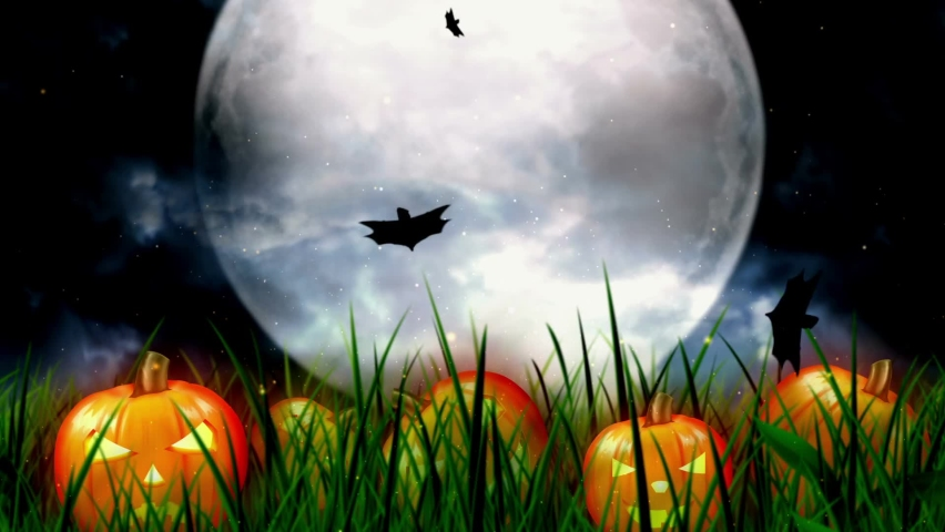 Video of Halloween Night Background | Shutterstock HD Video #1067514548