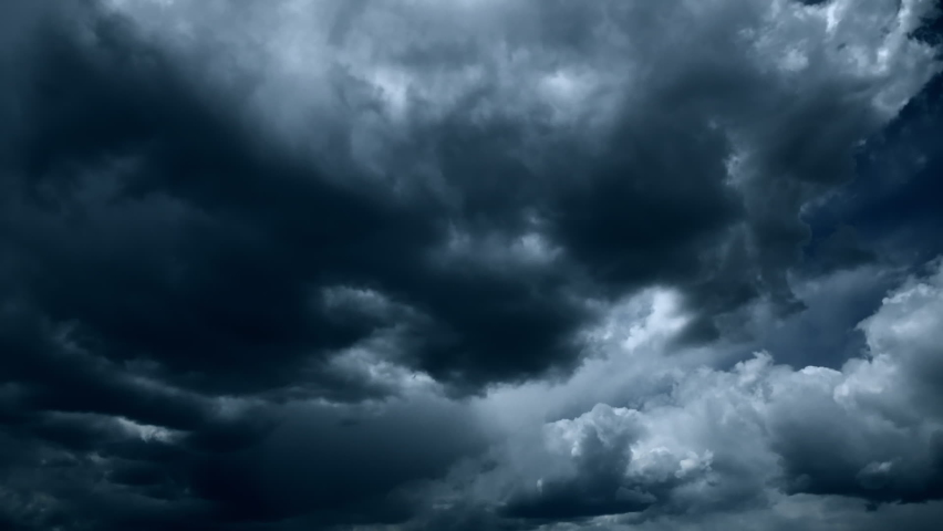 Time lapse Dark sky cloud background Slow motion