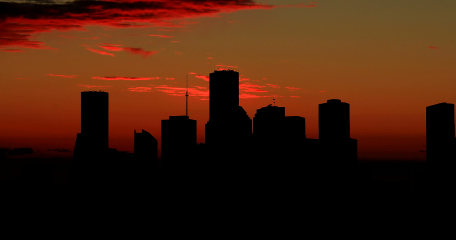 Houston Timelapse Yellow Morning Light Sunrise Time Lapse
