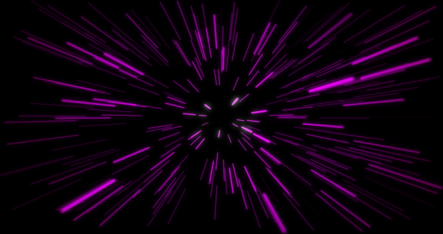 Hyper jump into another galaxy. Speed of light, neon glowing rays in motion. Beautiful fireworks, colorful explosion, big bang. Falling stars. Abstract bright creative cosmic background | Shutterstock HD Video #1067805053