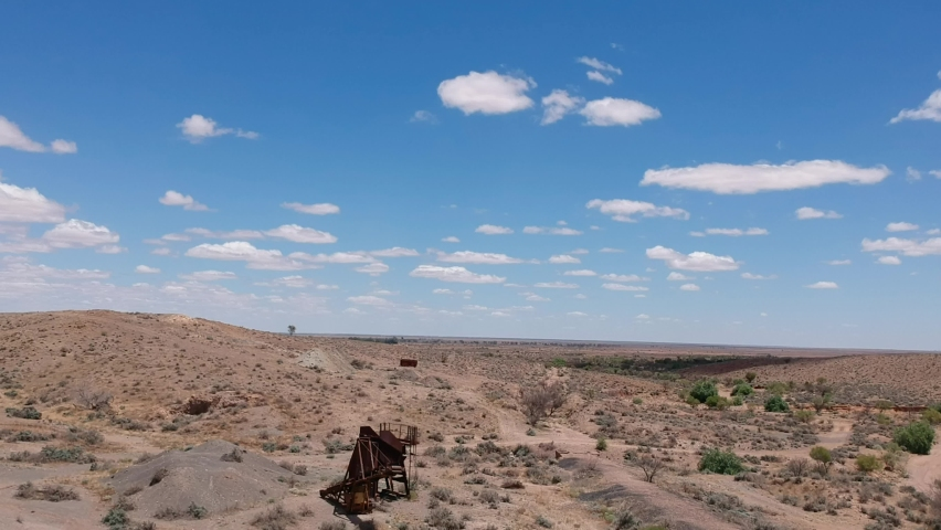 Abandoned machinery near Silverton in outback Australia
