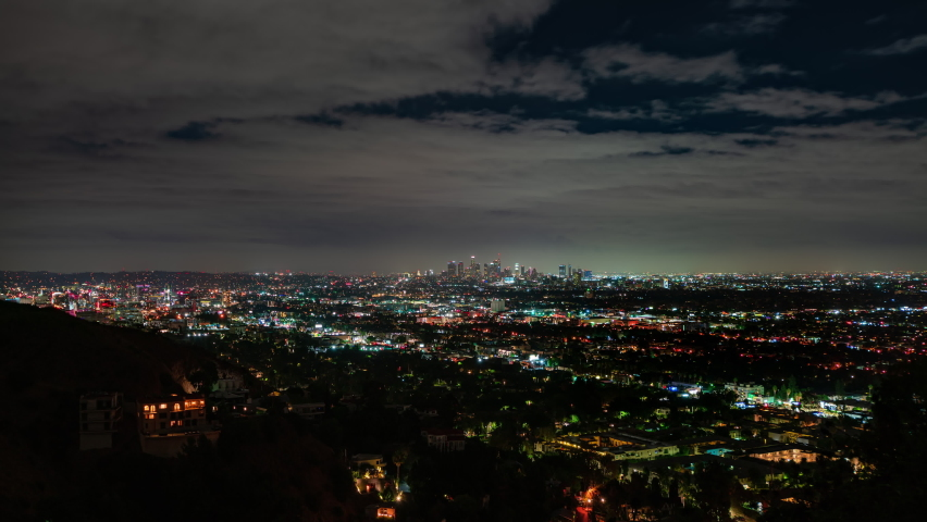 Downtown Los Angeles Night Time lapse