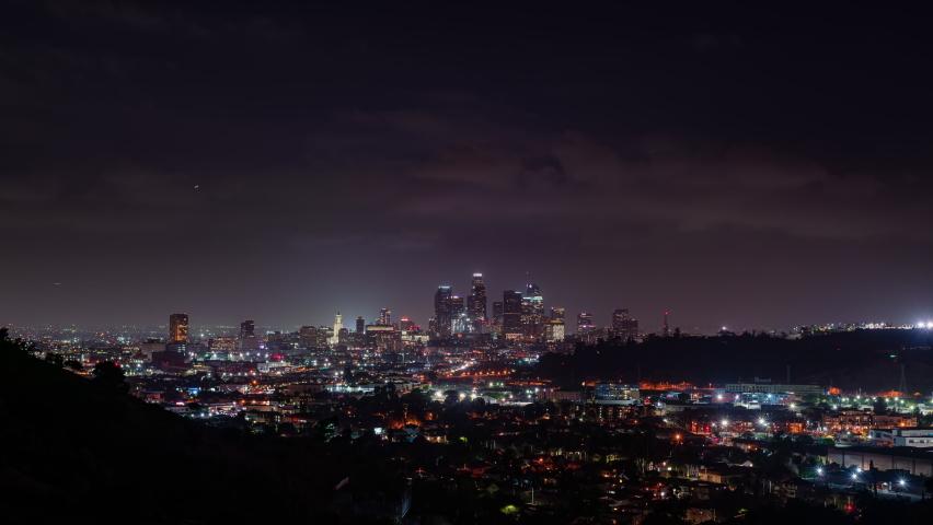 Downtown Los Angeles Sunrise Timelapse