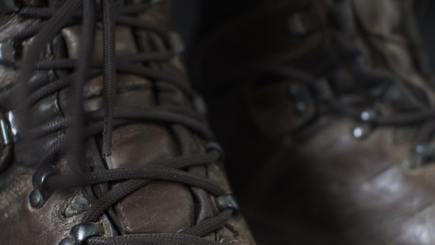 Bootlaces Being Untied. Close Up, Locked Off , Low Angle