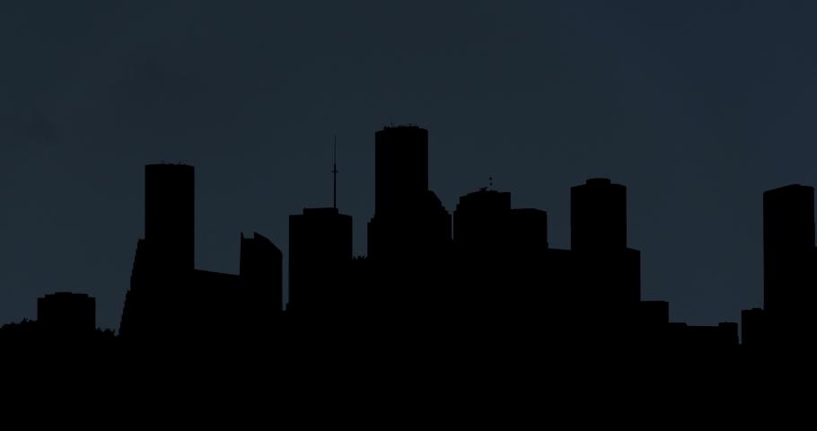 Houston Timelapse at Moonrise Time Lapse