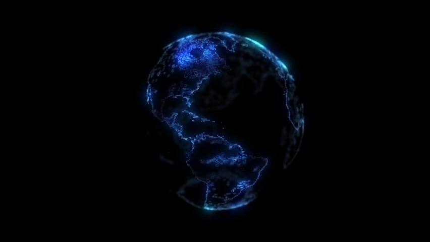 Hologram Planet This is A Planet animation i made in After Effects with Trapcode Particles i hope you like it.   Shutterstock HD Video #1068019142