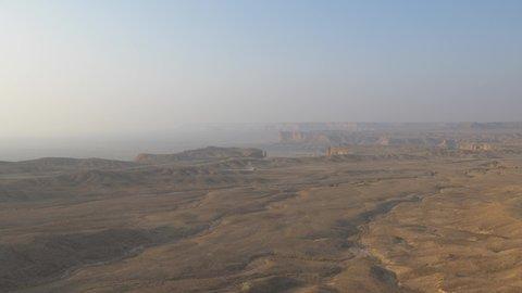 Edge of the World escarpment tourist area near Riyadh, Saudi Arabia