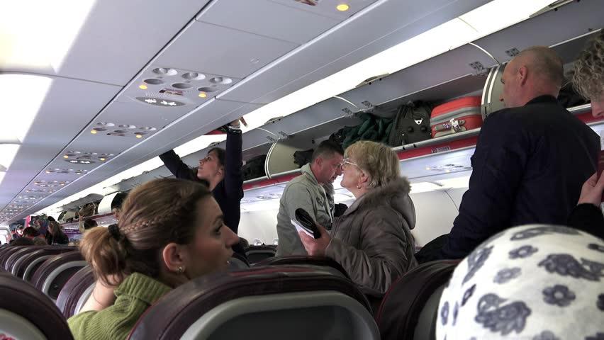 Wizzair Interior Flight Circa Stock Footage Video 100 Royalty Free 10681055 Shutterstock