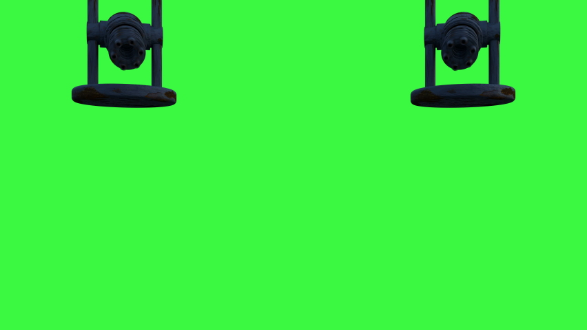 3d animation of appearing of auto turret or gatling machine gun and shooting. Cyber security defense system working process. Futuristic technology abstract with green screen. | Shutterstock HD Video #1068119648