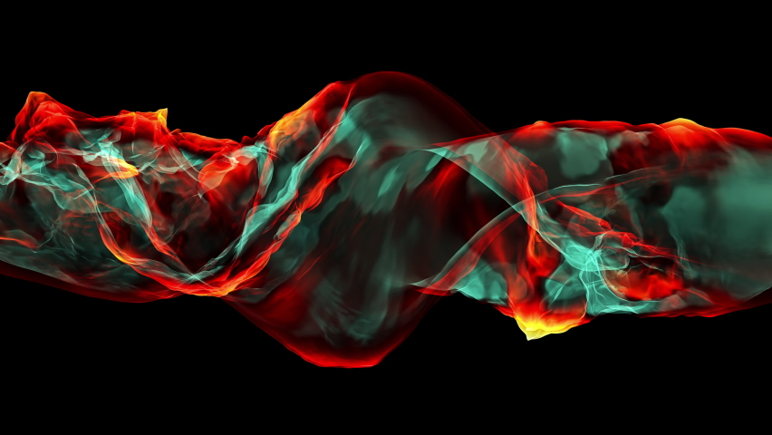 3D additive power background, 4K render of colourful flame abstraction | Shutterstock HD Video #1068120329