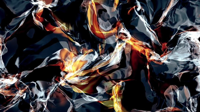 3D additive power background, 4K render of colourful flame abstraction | Shutterstock HD Video #1068120332