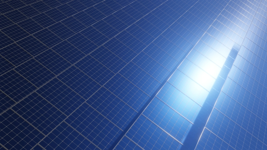 Rows of solar panels 3d rendering animation | Shutterstock HD Video #1068121478