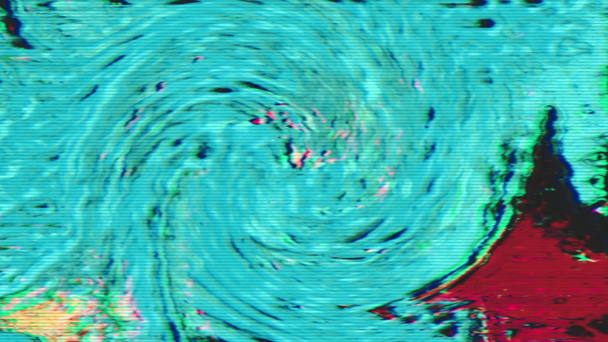 Software generated glitched clip, rainbow bad tv imitation. Retro futurism style. | Shutterstock HD Video #1068123821