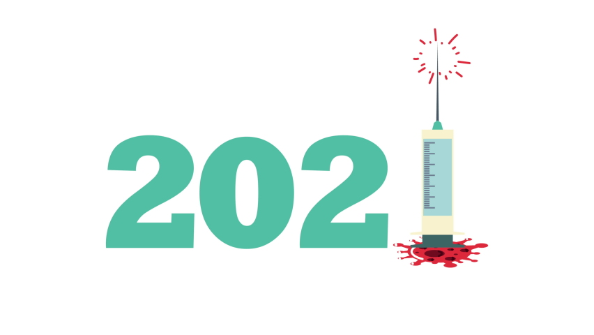 Covid19 particle in 2020 year number ,4k video animated | Shutterstock HD Video #1068159062