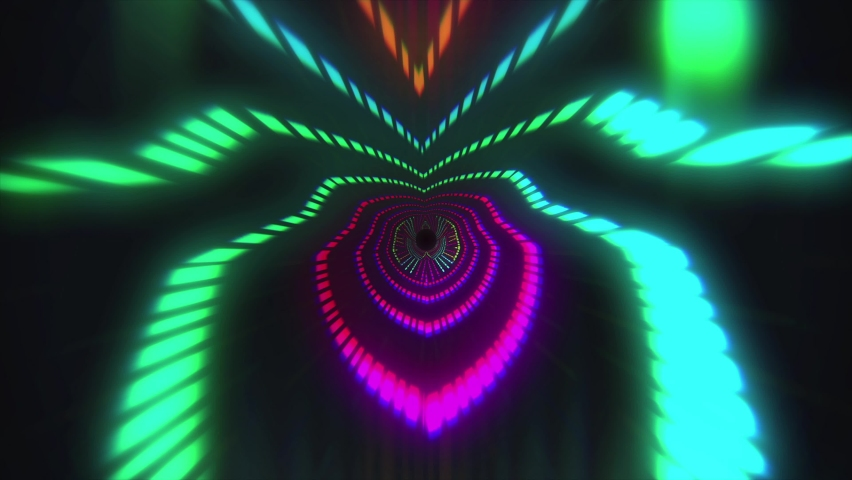 Digital Tunnel Motion Graphic. colorful lines speed flow shaped lights VJ loop background. For your big led screens during show performance. Abstract Visual. | Shutterstock HD Video #1068164141