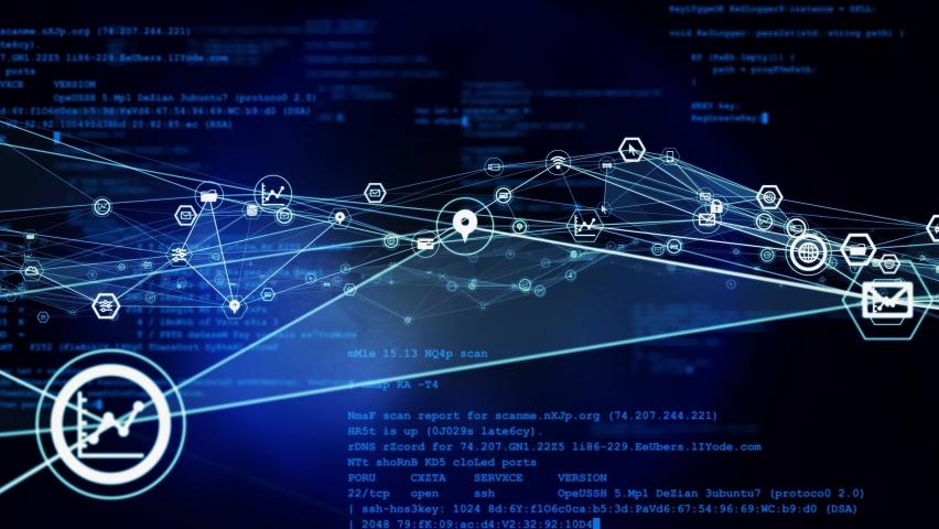 System engineering concept. Digital transformation.   Shutterstock HD Video #1068189215