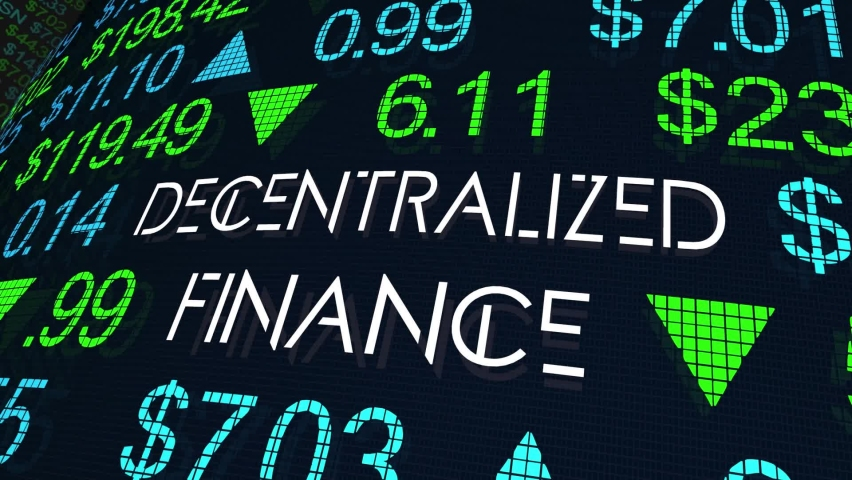 Decentralized Finance DeFI New Financial Platforms Cryptocurrencies 3d Animation Royalty-Free Stock Footage #1068195455