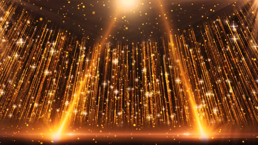 Particle neon light spot flashing award party stage background