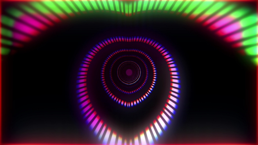 Digital Tunnel Motion Graphic. colorful lines speed flow shaped lights VJ loop background. For your big led screens during show performance. Abstract Visual. | Shutterstock HD Video #1068386894