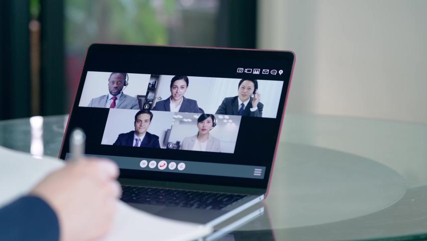 Video conference concept. Web meeting.  Telemeeting. Webinar. | Shutterstock HD Video #1068431777