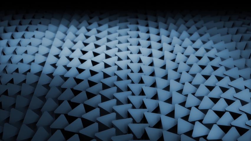4k 3D abstract background animation of metal elements surface geometric pattern morphing and turning loop. Great for ads, technical, industrial, scientific, technological, sci-fi illustrations, etc. | Shutterstock HD Video #1068447122