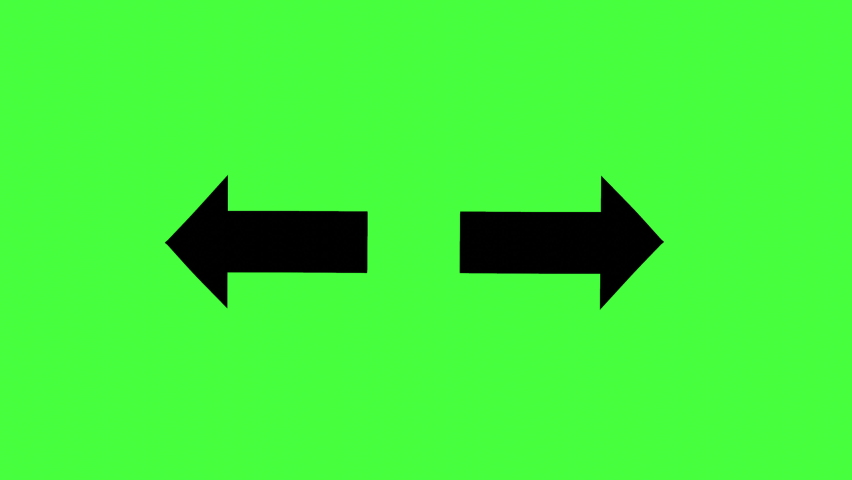 Image of black arrows opening left and right, 3D rendering | Shutterstock HD Video #1068568973