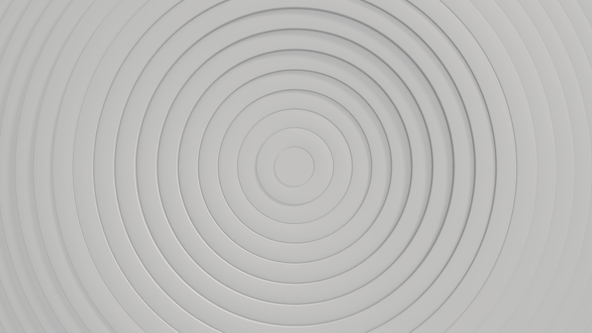 Abstract pattern of circles with the effect of displacement. Animation of white clean rings. Abstract background for a business presentation. Seamless loop 3d Water Stains. White texture | Shutterstock HD Video #1068601631