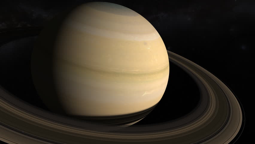 Saturn 4K. Fly-by showing the planet, moons and rings from different angles. Texture maps and space images courtesy of NASA (www.nasa.gov)