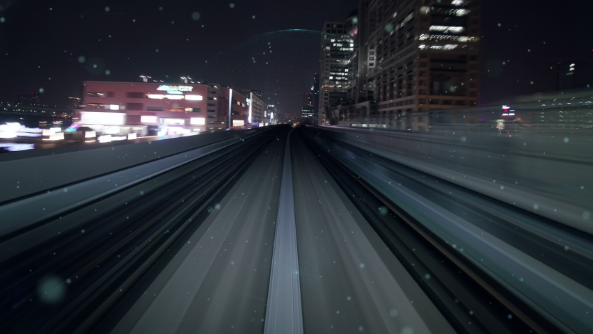 Fast motion transport flow on road with global network graphic modernization showing concept of future smart transportation , disruptive innovation and agile business methodology .   Shutterstock HD Video #1068625649