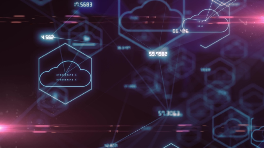 Global information technology of internet of things IOT big data network - Animation Rendering | Shutterstock HD Video #1068814919