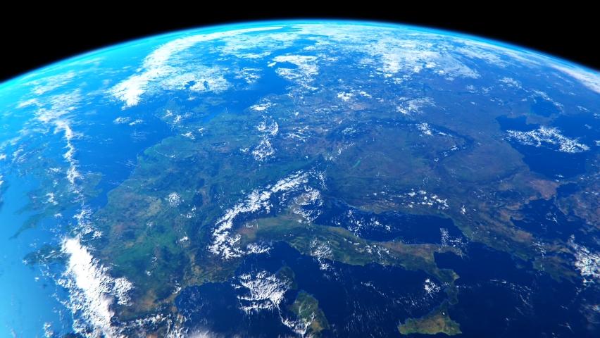 Earth blue space globe world | Shutterstock HD Video #1068817472