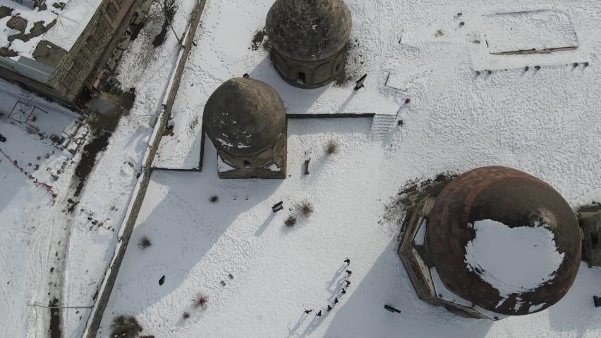 Erzurum Folklore Dance Team Aerial View Erzurum Turkey  Royalty-Free Stock Footage #1069023997
