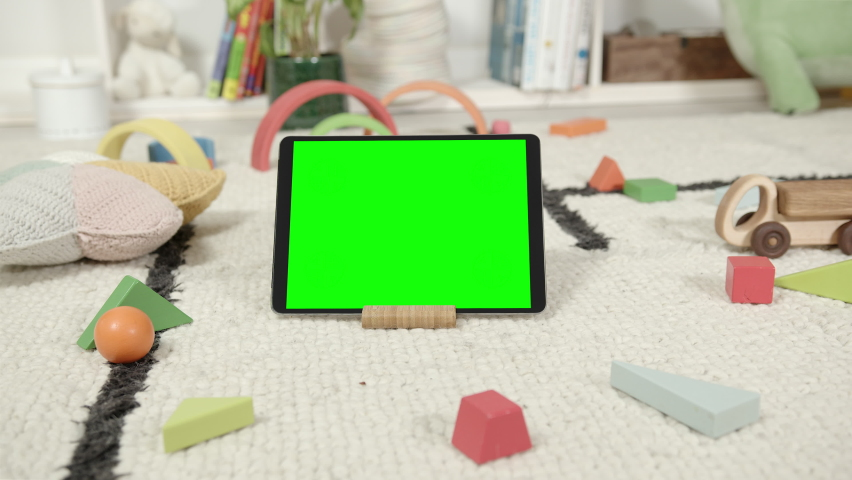 Mockup of Digital Tablet in Children's Room Interior Royalty-Free Stock Footage #1069111855